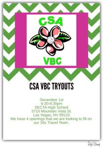 16s tryout